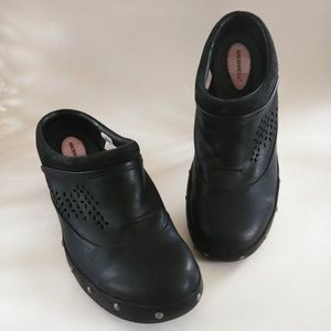 Merrell Black Size 11 Leather Performance Clogs